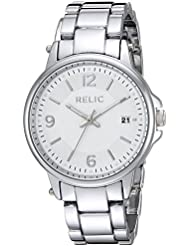 Relic Womens Quartz Stainless Steel and Alloy Casual Watch, Color:Silver-Toned (Model: ZR34425)