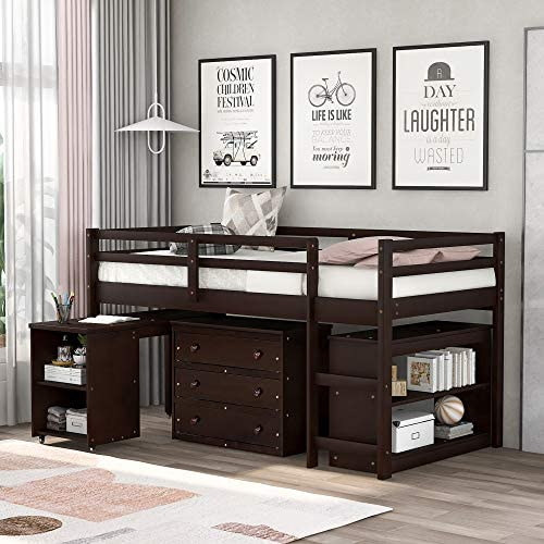 Merax Low Study Twin Loft Bed