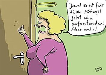 Postkarte A6 64213 Auferstanden Von Inkognito Kunstler Dorthe Landschulz Satire Cartoons Amazon De Burobedarf Schreibwaren