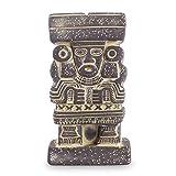 NOVICA Grey Archaeological Ceramic Sculpture, 6.75'' Tall, Goddess Chalchiuhtlicue'