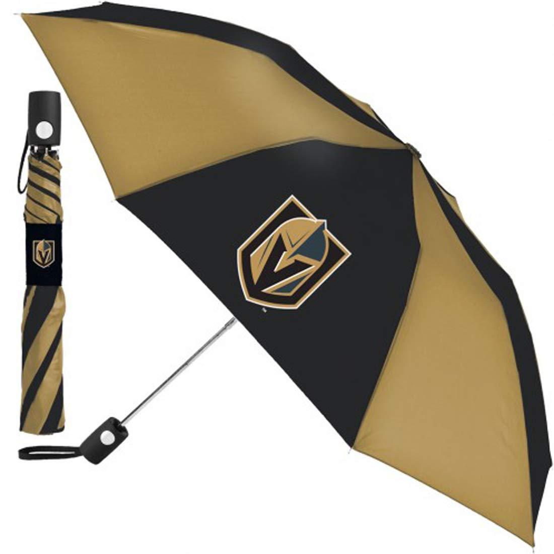 WinCraft NHL Las Vegas Golden Knights Umbrella 42 inches Automatic Folding