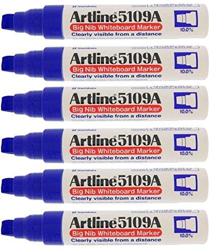 (Artline 5109A Big Nib Whiteboard Marker - Blue (Pack of 6) )