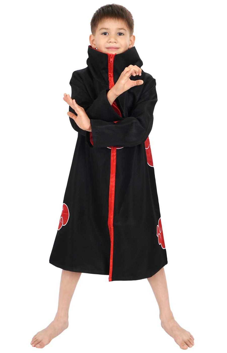 CoolChange Abrigo de Akatsuki para niños Disfraz Cosplay, tamaño: 150