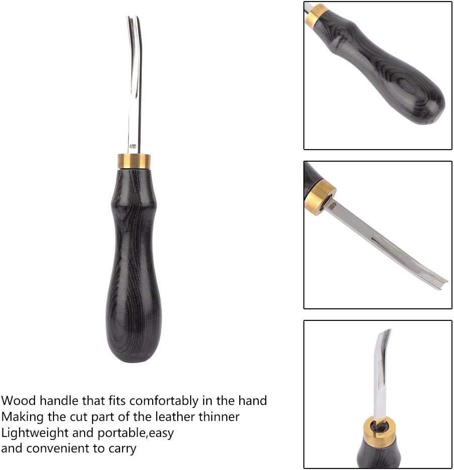 Black 4mm Hilitand Leather Edger Black Sandalwood Acciaio Leathercraft Edge Skiving Smussatura Utensile da Taglio