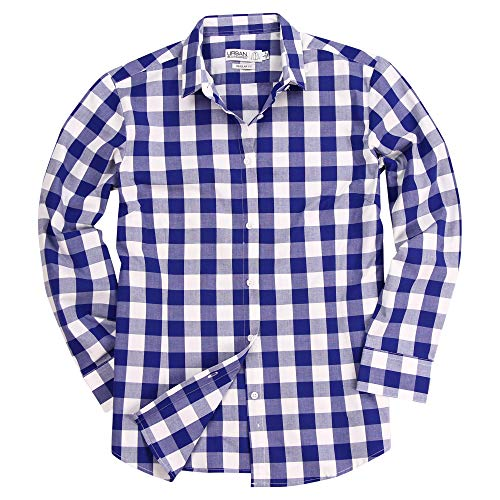 Checkered Button Up - Gingham Plaid Checkered Shirt for Women