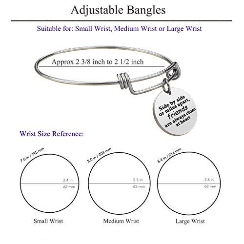 iJuqi Charm Charm Bracelet - 3 PCS Stainless Steel Expendable Inspirational Bangle Bracelets BFF Jewelry Set Graduation Gifts Birthday Gifts (3 Pcs- White) by iJuqi (Image #4)