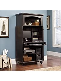 Lovely Pemberly Row Computer Armoire In Antiqued Paint