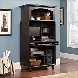 Pemberly Row Computer Armoire in Antiqued Paint