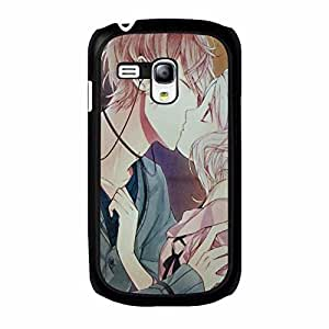Samsung Galaxy S3 Mini Comic Vampiers Cover Shell,Perfect Kiss Design Comic Diabolik Lovers Phone Case Rugged Cover for Samsung Galaxy S3 Mini
