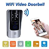 Wifi Doorbell Remote Unlock Video Doorbell Camera Video Door Phone with Unlock Function for Android IOS Smart Phone Tablet