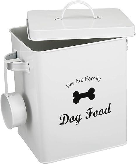 Lata de Almacenamiento de Comida con Tapa para Perros y Gatos, con ...