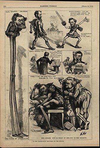 Carl Costumes (Carl Schurz Senate Theatrics Renaissance Costumes 1872 antique engraved print)