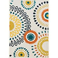 Loloi Rugs, Terrace Collection - Ivory/Multi Area Rug, 1-8 x 5