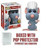 Funko Pop! Disney Ratatouille Remy FLOCKED CHASE VARIANT Vinyl Figure (Bundled with Pop BOX PROTECTOR CASE)