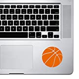 StickAny Palm Series Basketball Simple Sticker for MacBook Pro, Chromebook, and Laptops (Orange)