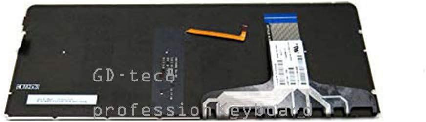 Laptop Keyboard Compatible for HP Spectre 13-V 13-V001DX 13-V010CA 13-V011DX 13-V018CA 13-V021NR 13-V151NR 13T-V000 13-V101DX 13-V110CA 13-V111DX 13-V118CA US Silver Backlit No Frame