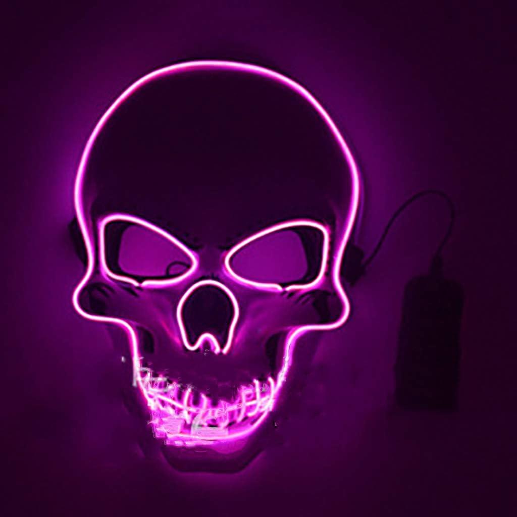 Máscara de Purga con luz LED, Thriller de Terror Fantasma LED ...