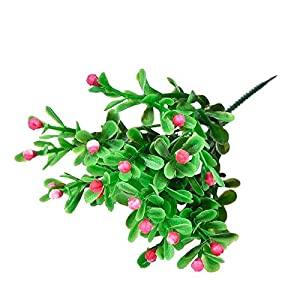 FYYDNZA 1 Pcs Multicolor Plastic Simulation Artificial Flower Milan Grain Green Grass Plant Grain For Wedding Party Diy Home Decoration 1