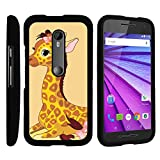 MINITURTLE Case Compatible w/ Motorola Moto G XT1548 Phone Case, Perfect Fit Snap on Cell Phone Case Silly Animal Design Series Baby Giraffe