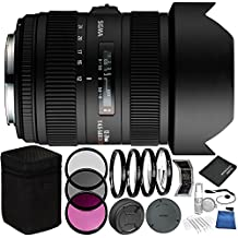 Sigma 12-24mm f/4.5-5.6 DG HSM II Lens For Nikon Bundle with Manufacturer Accessories & Accessory Kit (23 Items)