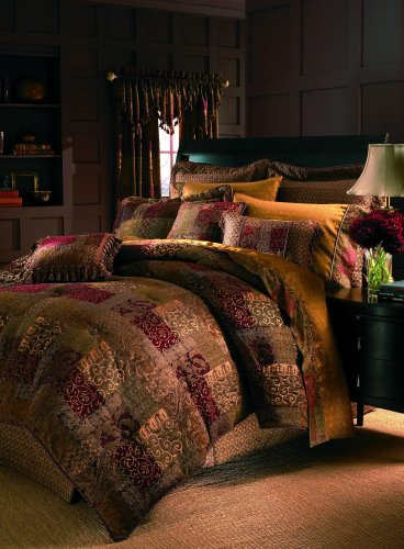 Croscill Galleria Comforter Set, Queen, - Gold N Brown