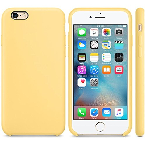 iPhone 6S Plus Case ,iPhone 6S Plus Case, Welcomeuni Ultra-thin Silicone Case Cover Skin For iPhone 6S Plus & 6 Plus 5.5inch (Yellow)