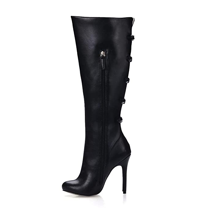 Best 4U® Stivali alti da donna Premium Ruffled PU 12CM