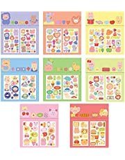 ToneGrip Cute Stickers for Kids Ages 3+ and Up Assortment 8 Set 120PCS Decoration Waterproof Reward Label Handmade Card Birthday Gift Party Classroom Envelopes Sealing Scrapbooking Stationery