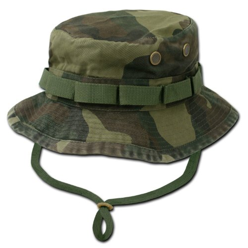 RAPID DOMINANCE Washed Hunting Fishing Outdoor Hat Military Boonie Hats (Woodland, Large), Outdoor Stuffs