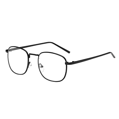 dc9d6b83c91 Deylaying Korean Women Men Square Metal Frame Myopia Glasses Men Women Short  Distance Nearsighted Eyeglass -0.5~-6.0 (These are not reading glasses)  ...