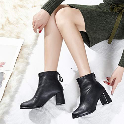 D'hiver Pointues Pour Bottes Femmes Talons A Fashion Hauts qEtwpzw
