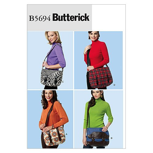 Butterick Patterns B5694 Messenger Bags, One Size Only by BUTTERICK PATTERNS