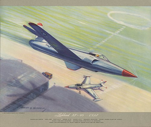 usaf-lockheed-xf-90-penetration-fighter-hubbell-print-1950