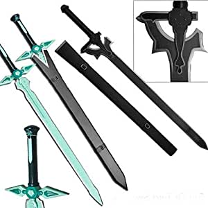 Sword Art Online Kirito STEEL Swords Set Elucidator Dark Repulsor SAO Replicas 2