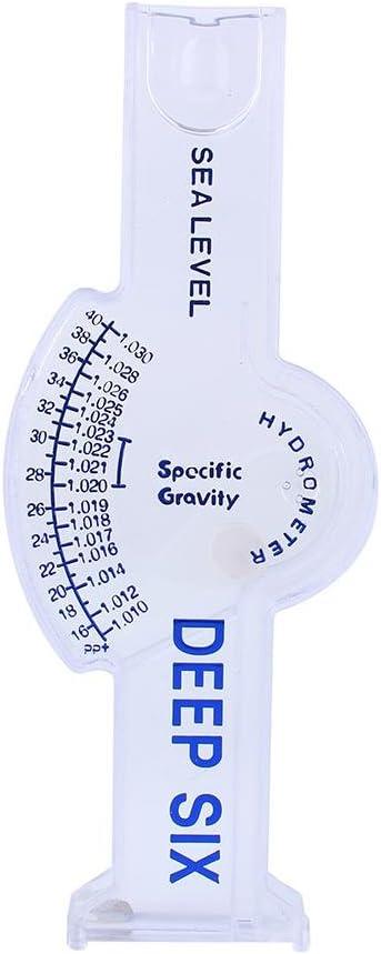 TOPINCN Square Saltwater Hydrometer Salt Water Salinity Meter Accurate Automatic Hydrometer Salt Water Salinity Meter for Fish Tank