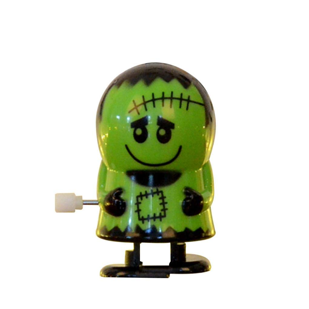 Singular-Point Halloween Toys Sale!! Clockwork Gift Wind Up Bounce Toy Props Toy Jumping Pumpkin Monster (4 Choices) (a)