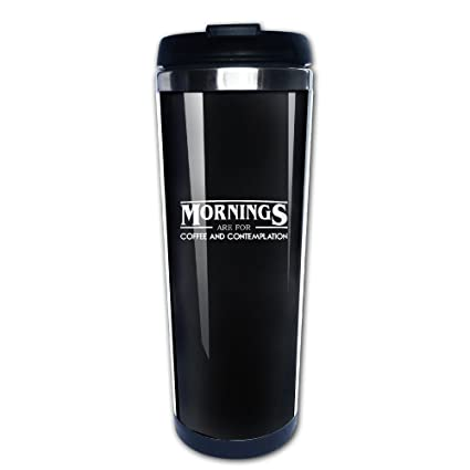 Stainless Steel Bar Flasks Funny Mornings Are For Coffee And