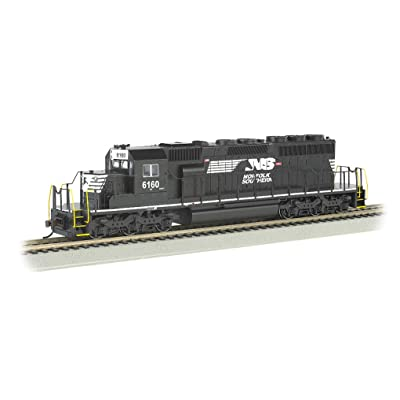 Bachmann Trains EMD SD40-2 Dcc Ready Diesel Locomotive Norfolk Southern #6160 (Thoroughbred) - HO Scale, Prototypical Black: Toys & Games