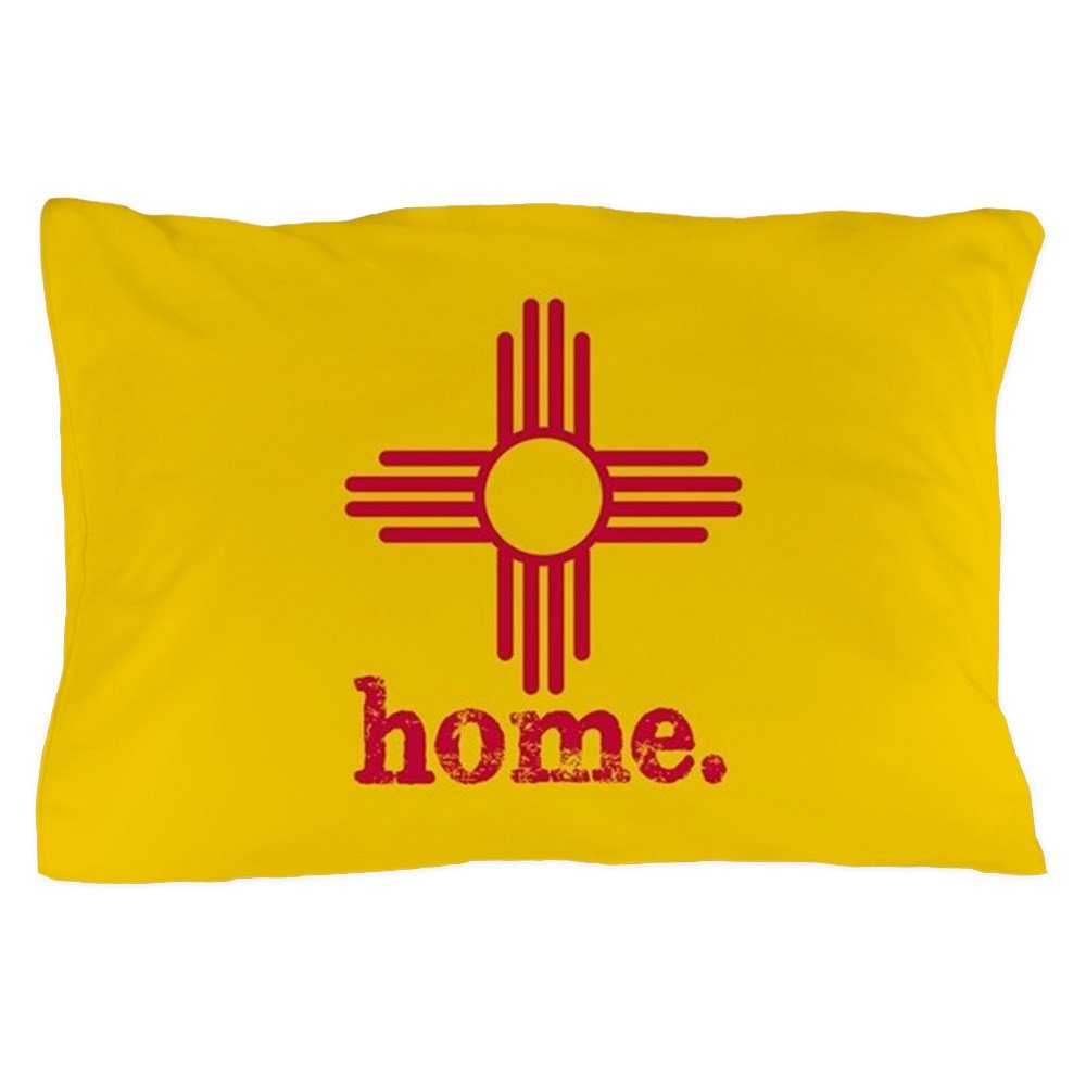 CafePress - New Mexico Zia Symbol Yellow - Standard Size Pillow Case, 20''x30'' Pillow Cover, Unique Pillow Slip