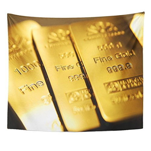 - Emvency Tapestry Yellow Bullion Gold Bars Ingot Vault Reserve Wealth Bank Home Decor Wall Hanging for Living Room Bedroom Dorm 50x60 inches