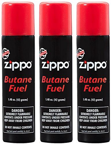 Butane Lighter Fluid (Zippo Premium Butane Fuel 1.48 oz - 3 Pack)
