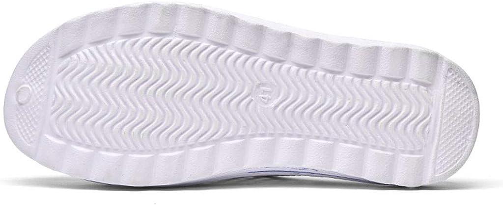 Yowablo Sandales Hommes Femmes Plage Évider Pantoufles Respirantes Décontractées Appartements Chaussures Blanc