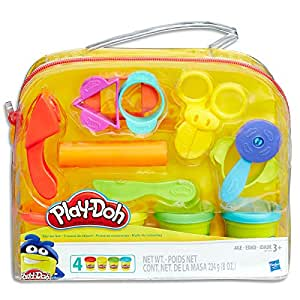 Play-Doh - Starter Set inc 4 Tubs of Dough & 6 Accessories - Creative Kids Toys - Ages 3+