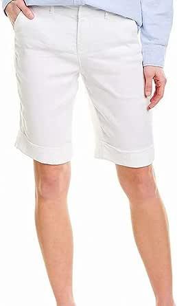 NYDJ Womens MAKB2557 Bermuda Linen Short with Roll Cuff Bermuda Shorts