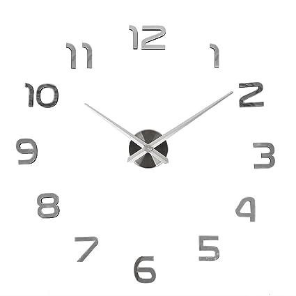 Orologio da Parete SOLEDI Orologio Parete Adesivo 3D Decorazione per Casa  Ufficio Hotel Ristorante Fai Da