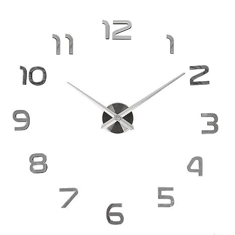 Soledi Nuevo Reloj de pared Adhesivo acrílico números decoracion moderno hogar sala de estar DIY
