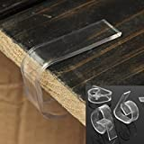 8pcs/lot Clear Plastic Transparent Table Cloth Cover Clips for Wedding Props Table Skirting Buckle