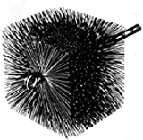 7'' x 7'' Square Master Sweep Brush - 3/8'' thread
