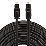 Optical Cables, EMK 25m OD4.0mm Toslink Male to Male Digital Optical Audio Cable