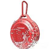 Tronsmart T4 Altavoz Bluetooth 4.2 IP67 Impermeable Portátil inalámbrico Resistente a Impactos y Polvos con Micrófono 7 Horas de Reproducción -Rojo